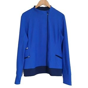 Lucy Tech Royal Blue Offset Zip Jacket L